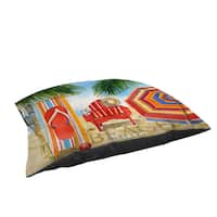 Beach Medley Large Rectangle Pet Bed