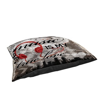 Music is My True Love Large Rectangle Pet Bed