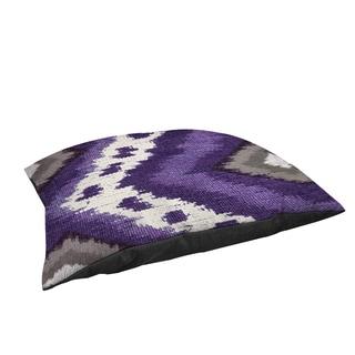 Thumbprintz Tribal Ikat Plum Large Rectangle Pet Bed