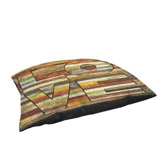 Thumbprintz Striped Love Large Rectangle Pet Bed
