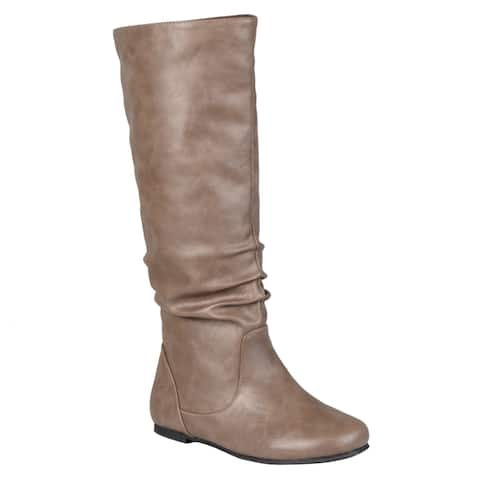 Journee Collection Womens Jayne Regular and Wide-calf Mid-Calf Slouch Riding Boots