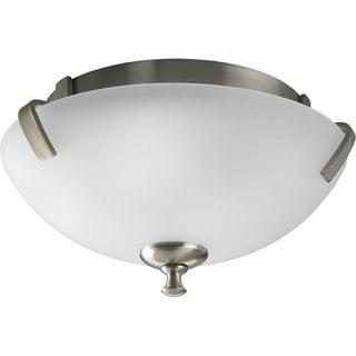 Progress Lighting Silvertone 2-light Semi-flush Mount Fixture