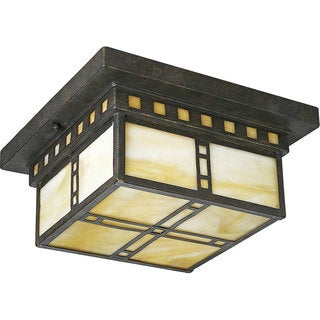 Progress Lighting Bronze 2-light Semi-flush Mount Fixture