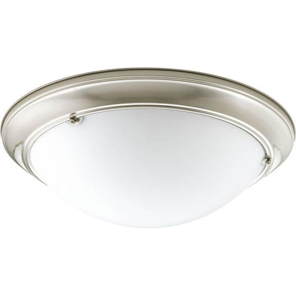 Progress Lighting Silvertone 3-light Semi-flush Mount Fixture