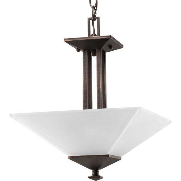 Progress Lighting Bronze 2-light Semi-flush Mount Fixture