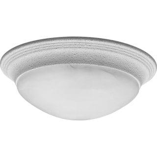 Progress Lighting White  2-light Semi-flush Mount Fixture