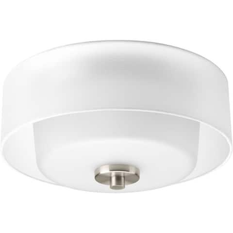 Progress Lighting Silvertone 2-light Flush Mount - N/A