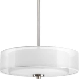 Progress Lighting Silvertone 3-light Semi-Flush Convertible