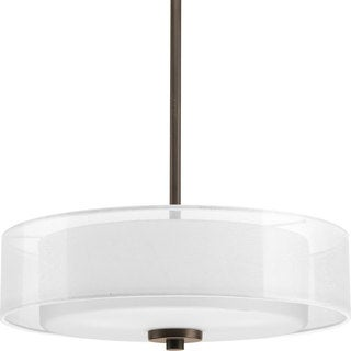 Progress Lighting Bronze 3-light Semi-Flush Convertible