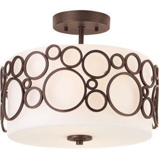 Progress Lighting Bronze 2-light Semi-Flush Mount