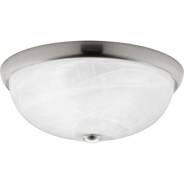 Progress Lighting Silvertone  3-light Cfl Flush Mount Light Fixture