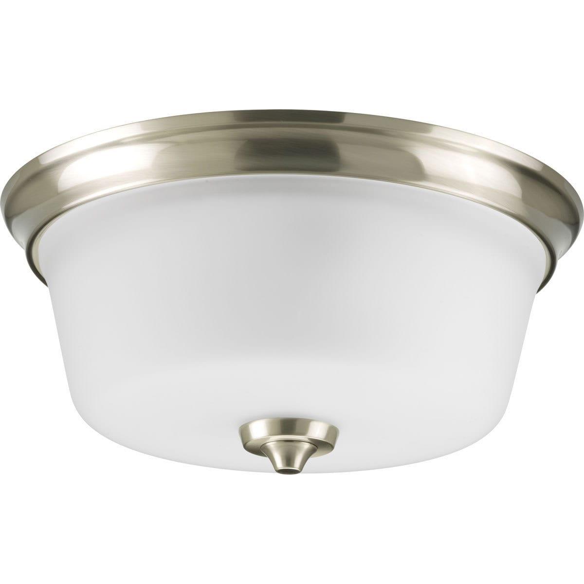 Progress Lighting Silvertone 2-light Semi-flush Mount Fix...