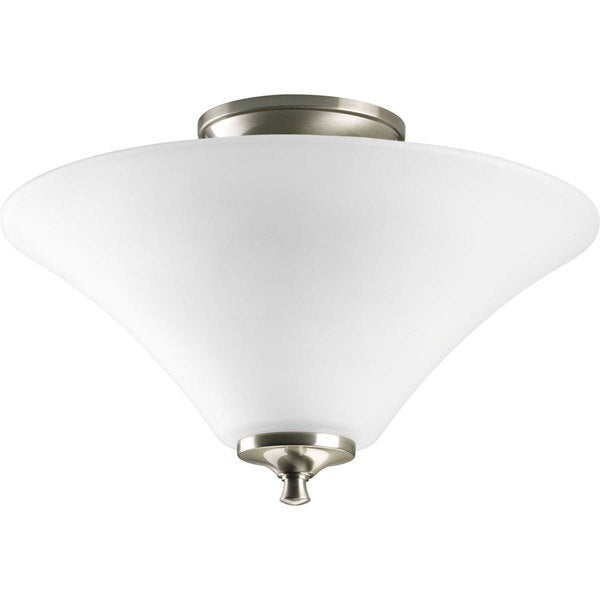Progress Lighting Silvertone 2-light Semi-flush Mount Fixture