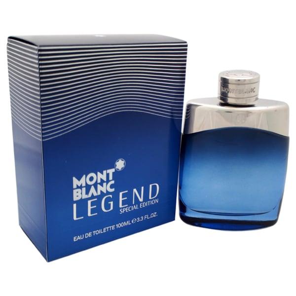 Mont Blanc Legend Men's 3.4-ounce Eau de Toilette Spray (Special Edition Bottle)