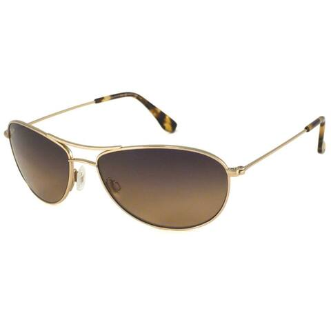 Maui Jim Men's 'Baby Beach' Goldtone Polarized Aviator Sunglasses