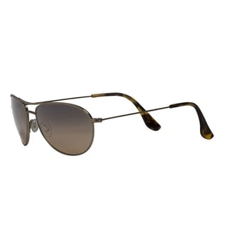 Maui Jim Men's 'Baby Beach' Goldtone Polarized Aviator Sunglasses