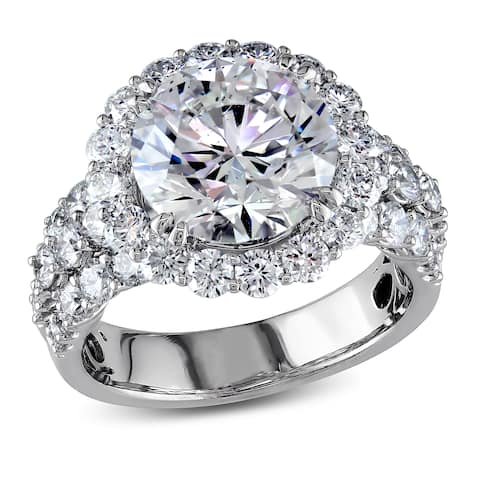 Miadora Signature Collection 18k White Gold 6 1/3ct TDW Certified Diamond Ring