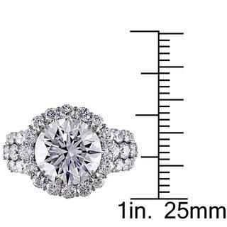 Miadora Signature Collection 18k White Gold 6 1/3ct TDW Certified Diamond Ring (F, SI2) (IGI)