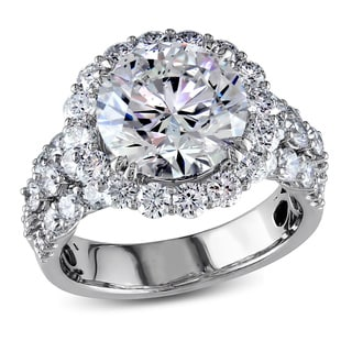 Miadora Signature Collection 18k White Gold 6 1/3ct TDW Certified Diamond Ring (F, SI2) (IGI)