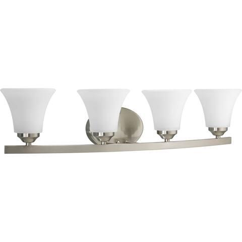 Progress Lighting Silvertone Adorn Collection 4-light Brushed Nickel Bath Light - N/A
