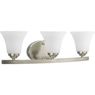 Progress Lighting Silvertone  Adorn Collection 3-light Brushed Nickel Bath Light