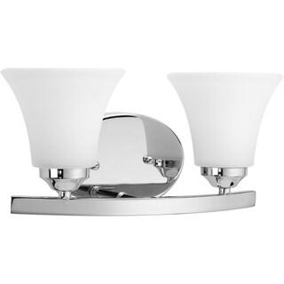 Progress Lighting Silvertone  Adorn Collection 2-light Chrome Bath Light