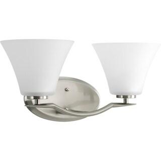 Progress Lighting Silvertone Bravo Collection 2-light Brushed Nickel Bath Light