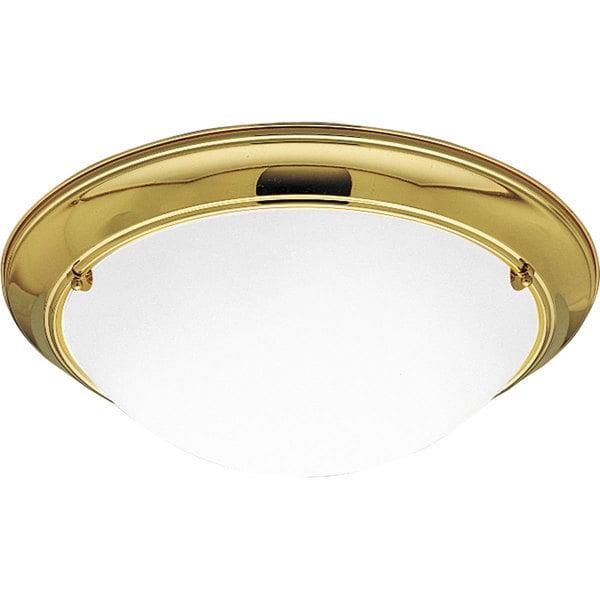 Progress Lighting Gold 3-light Semi-flush Mount Fixture