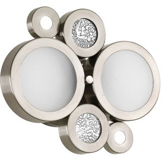 Progress Lighting Silvertone Bingo Collection 2-light Brushed Nickel Bath Light With Bulb