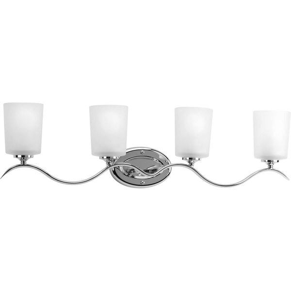Shop Progress Lighting Silvertone Inspire Collection 4-light Chrome ...