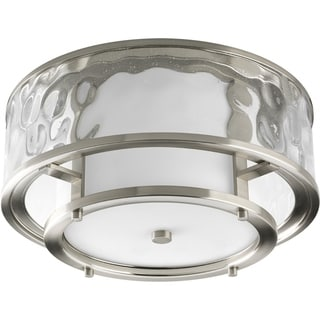 Progress Lighting Silvertone 2-light Flush Mount