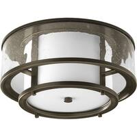 Progress Lighting Bronze  2-light Flush Mount