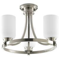 Progress Lighting Silvertone  3-light Convertible
