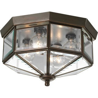 Progress Lighting Bronze 4-light Semi-flush Mount Fixture