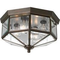 Progress Lighting Bronze  4-light Semi-flush Mount Fixture