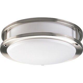 Progress Lighting Silvertone 1-light Semi-flush Mount Fixture