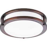 Progress Lighting Bronze  1-light Semi-flush Mount Fixture