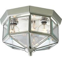 Progress Lighting Silvertone  3-light Semi-flush Mount Fixture