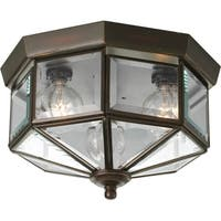 Progress Lighting Bronze  3-light Semi-flush Mount Fixture