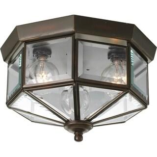 Progress Lighting Bronze 3-light Semi-flush Mount Fixture