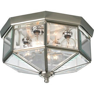 Progress Lighting Silvertone 4-light Semi-flush Mount Fixture
