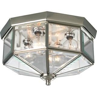 Progress Lighting Silvertone  4-light Semi-flush Mount Fixture