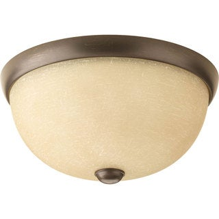 Progress Lighting Bronze  1-light Semi-flush Mount Fixture