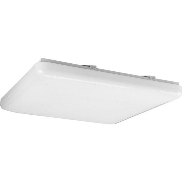 Progress Lighting White 1-light Semi-flush Mount Fixture