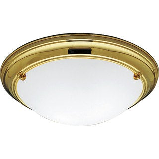 Progress Lighting Gold 2-light Semi-flush Mount Fixture