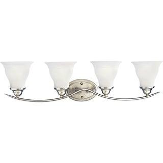 Progress Lighting Silvertone Trinity 4-light Fluorescent Bath Light With Bulb