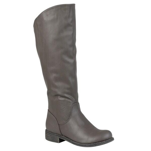 Journee Collection Women's 'Lawren' Regular and Wide-calf Knee-high Riding Boot