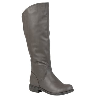 Journee Collection Women's 'Lawren' Regular and Wide-calf Knee-high Riding Boot