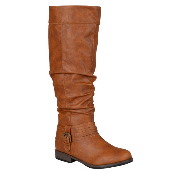 Journee Collection Women's 'Debi' Regular and Wide-calf Slouch Buckle Riding Boot