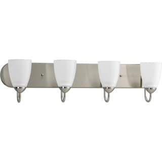 Progress Lighting Silvertone Gather Collection 4-light Brushed Nickel Bath Light